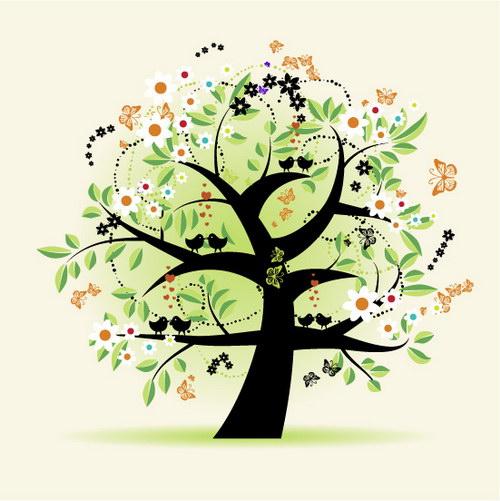 黑白画树,黑白画树简单图片,黑白线条画树_大山谷图库