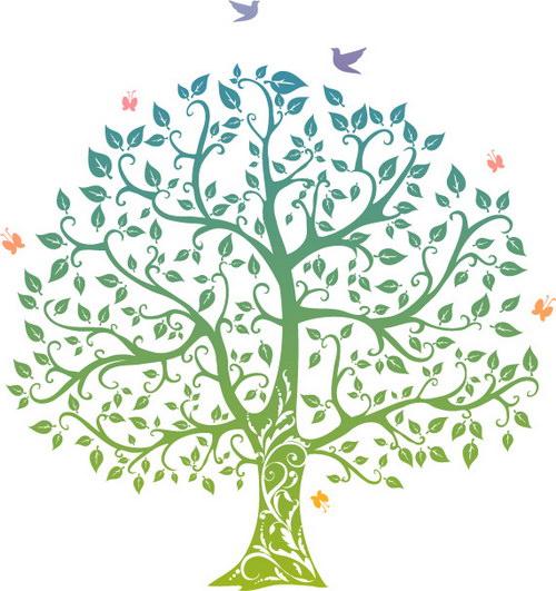 矢量发财树图案 :装饰画素材网 datuku.net 最新潮的