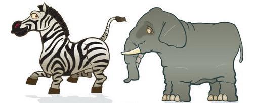 卡通动物装饰画 :装饰画素材网 datuku.net 最新潮的