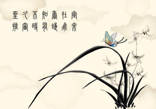 国画兰花图 :装饰画素材网 datuku.net 最新潮的无框