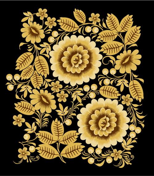 欧式金色花纹 :装饰画素材网