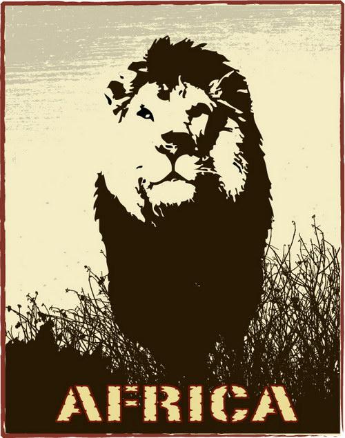 非洲野生动物装饰画