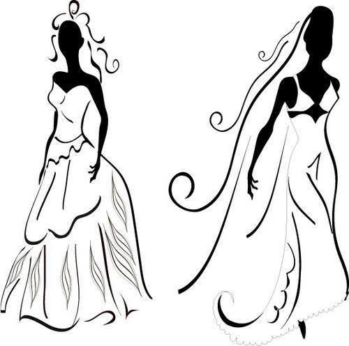 黑白婚纱装饰画 :装饰画素材网